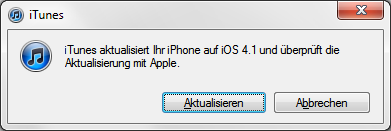 iPhone OS 4.1 Software-Update