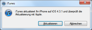 iOS 4.3.1 Software-Update