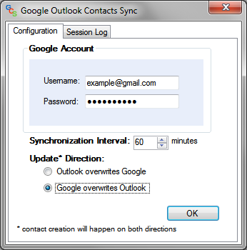 Google Contacts Outlook Synchronizer